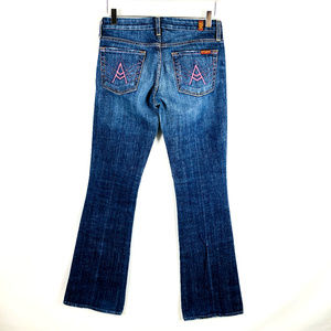 7 For All ManKind A Pocket Pink Stitch
